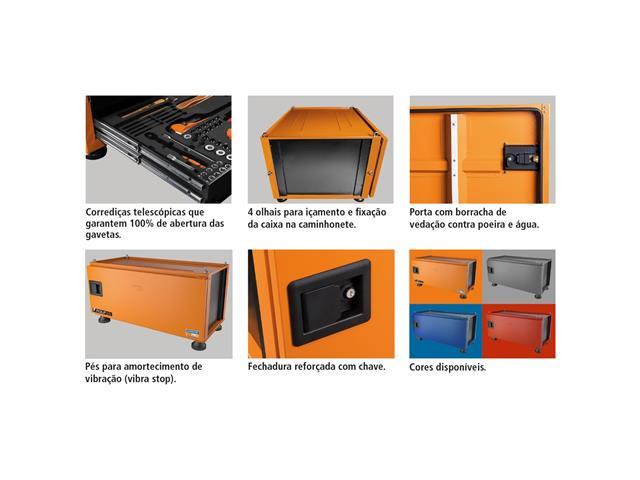 Caixa Ferramentas Pickup Box 84x100x50cm Tramontina PRO 153 Peças - 4