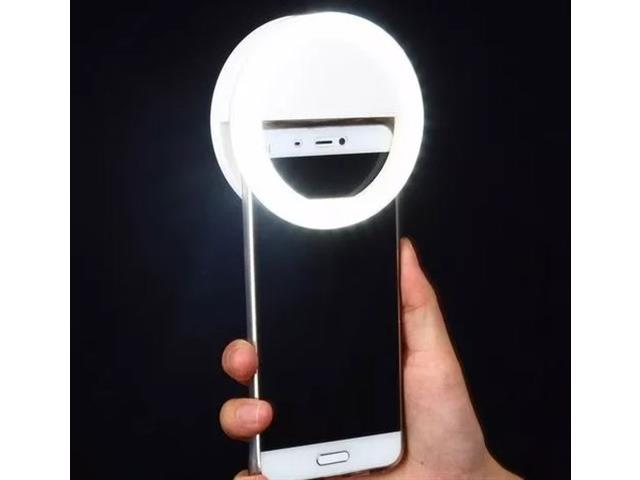 Luz de Selfie Ring Light Anel Led Flash Celular Recarregável Sortido - 2