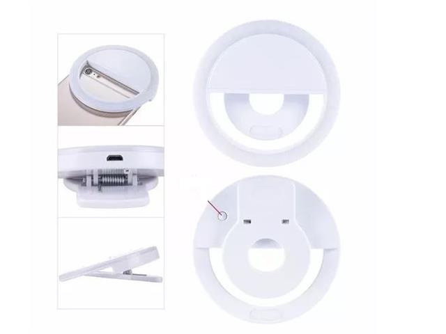 Luz de Selfie Ring Light Anel Led Flash Celular Recarregável Sortido - 3