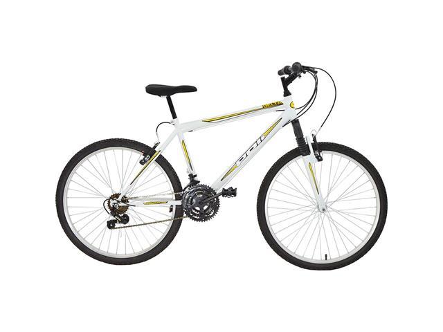 Bicicleta Delta MTB Aro 26 Branca com Suspensão Dianteira