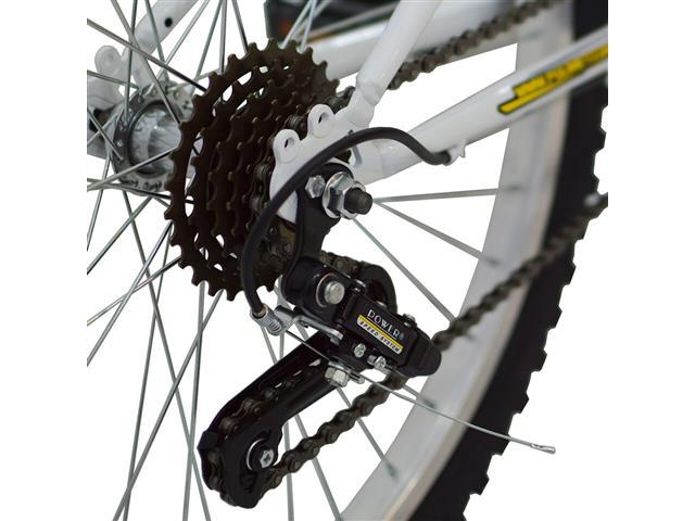 Bicicleta Delta MTB Aro 26 Branca com Suspensão Dianteira - 1
