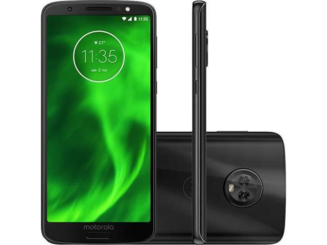 "Smartphone Motorola Moto G6 64GB Tela 5.7"" 4G Dual Câm 12 + 5MP Preto"