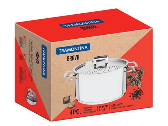 Espagueteira em Aço Inox Tramontina Brava 24cm - 1