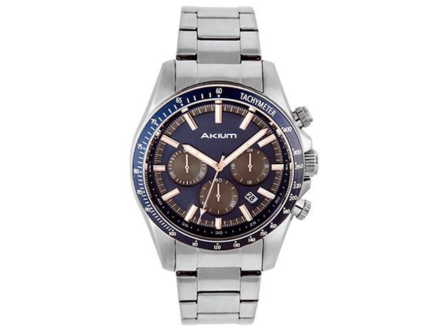 Relógio Vivara Akium Masculino Aço - 03F61Gb01-Ss+Blue 3e03d2cead