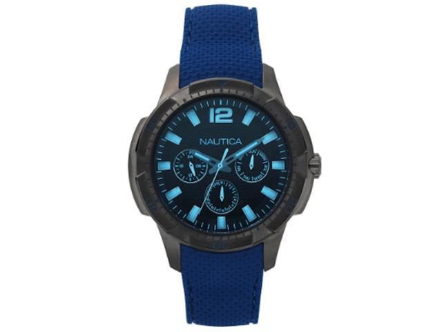 Relógio Nautica Masculino Borracha Azul - Napsdg004