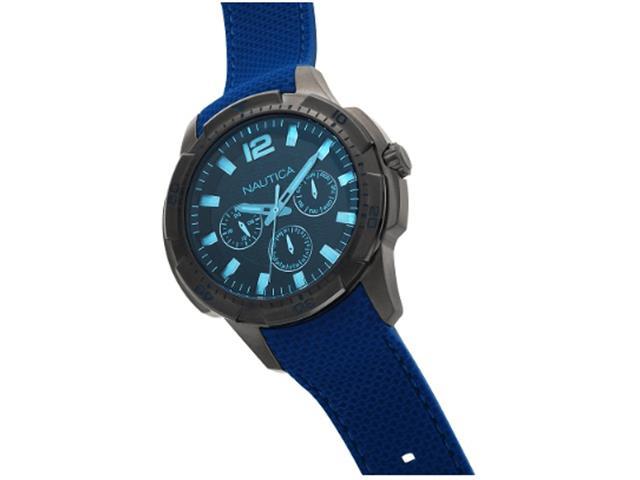 Relógio Nautica Masculino Borracha Azul - Napsdg004 - 2