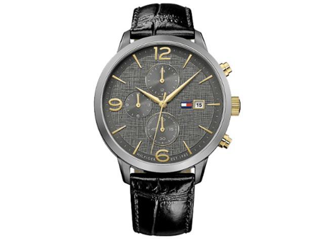 Relógio Tommy Hilfiger Masculino Couro Preto - 1 bb47e83a15