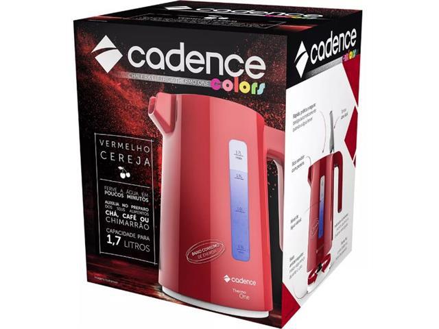 Chaleira Elétrica Cadence Thermo One Colors 1,7L Vermelha 110V - 4