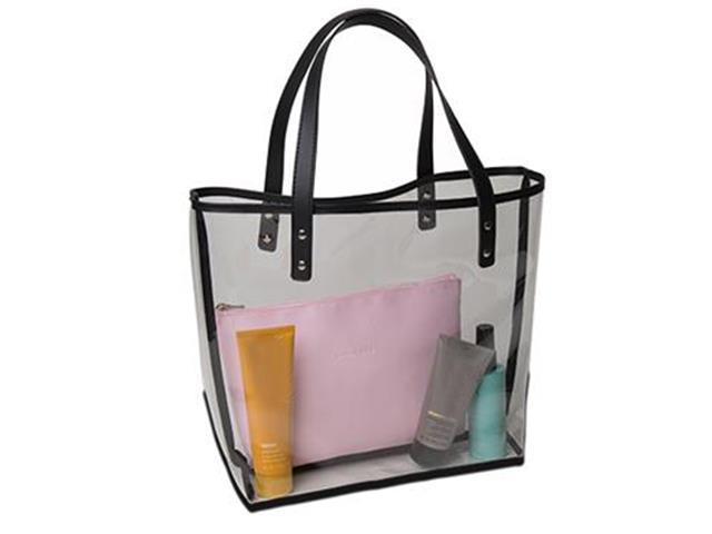 Bolsa Cristal com Mini Bag Rosa Versátil