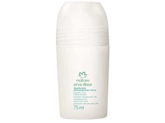 Desodorante Antitranspirante Roll-On Natura Erva Doce - 75ml