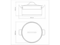 Caçarola Funda Tramontina Professional Aço Inox Ø 28CM - 1