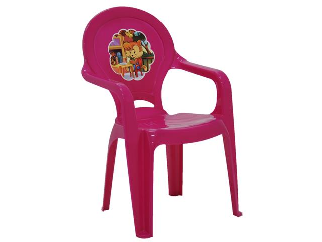 Cadeira Infantil Tramontina Catty Adesivo Rosa - 1
