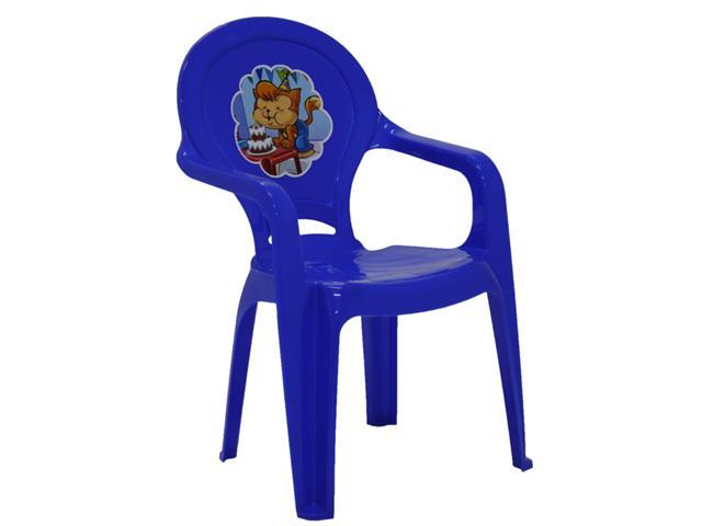 Cadeira Infantil Tramontina Catty Adesivo Azul - 1