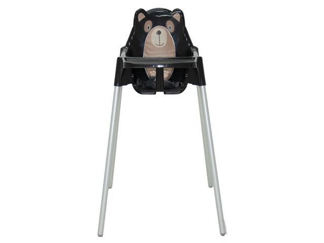 Cadeira Infantil Alta Tramontina Teddy Preta
