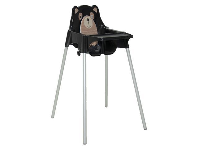 Cadeira Infantil Alta Tramontina Teddy Preta - 1