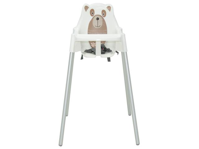 Cadeira Infantil Alta Tramontina Teddy Branca