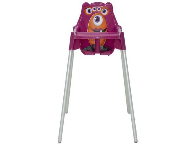 Cadeira Infantil Alta Tramontina Monster Rosa