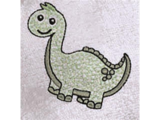 Toalha Baby Felpuda Bordada Buettner Dino Verde - 2