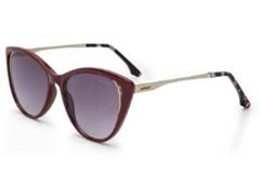Óculos Sol Colcci Valentina Bordô com Dourado Lente Cinza - 0