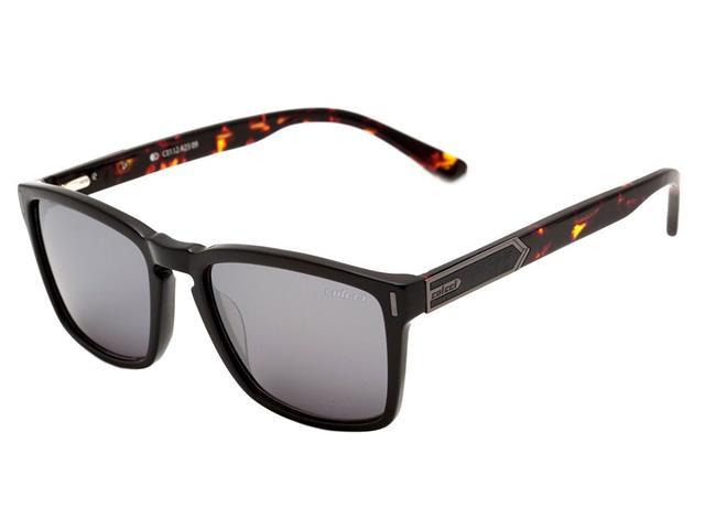 Óculos Sol Colcci Preto Demi Marrom Lente Cinza Degradê Flash Prata