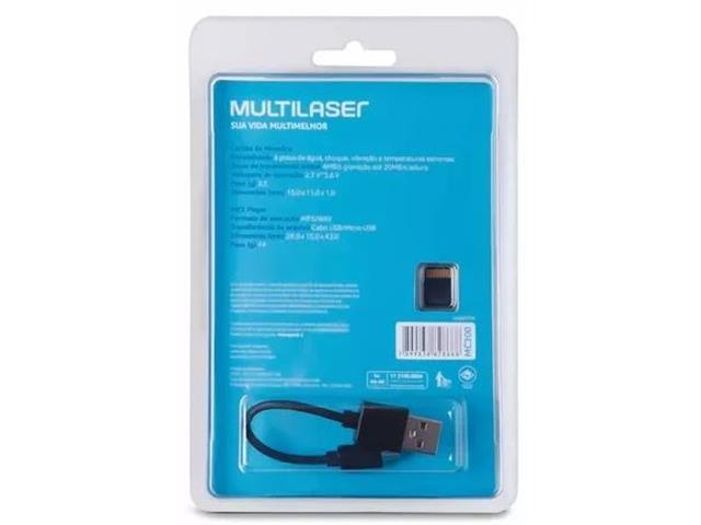 Foto 7 - Kit MP3 Player função PenDrive + Micro SD 8GB e Cabo USB
