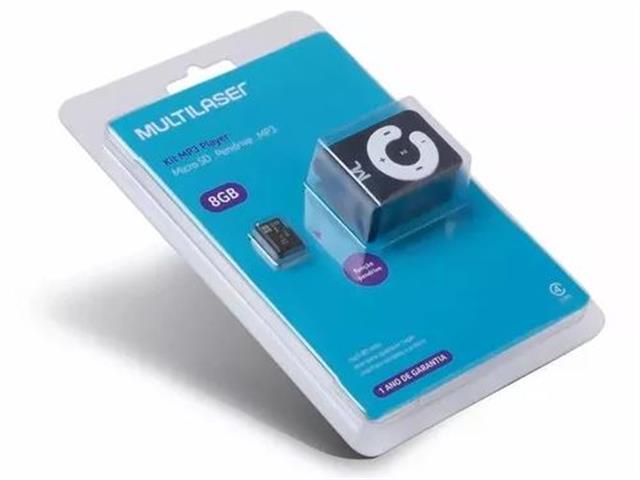 Foto 5 - Kit MP3 Player função PenDrive + Micro SD 8GB e Cabo USB