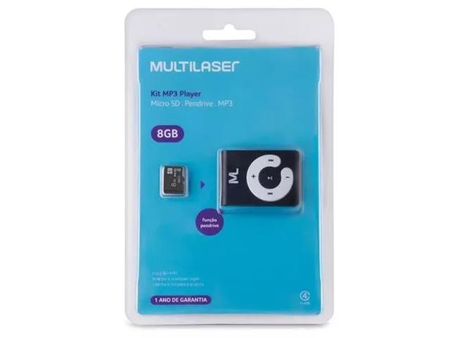 Foto 6 - Kit MP3 Player função PenDrive + Micro SD 8GB e Cabo USB