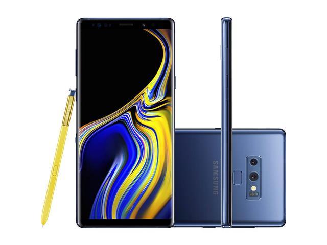 "Smartphone Samsung Galaxy Note 9 Duos 4G 128GB Tela 6.4""Câm.12MP Azul"