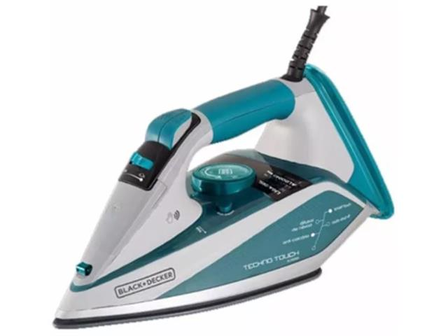 Ferro A Vapor Black&Decker Base Techno Ceramic Anti-Calcario