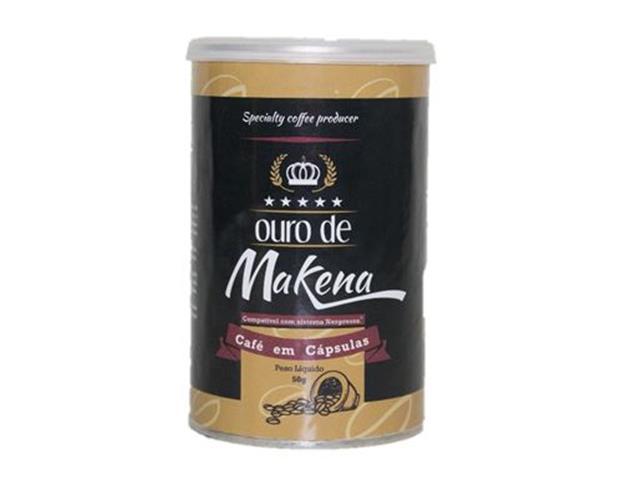 Café Ouro de Makena em Cápsulas lata c/ 10un.(12 unidades)