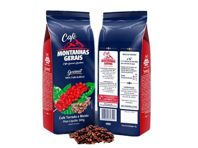 Café Montanhas Gerais Gourmet em Grãos 500g(12 unidades)