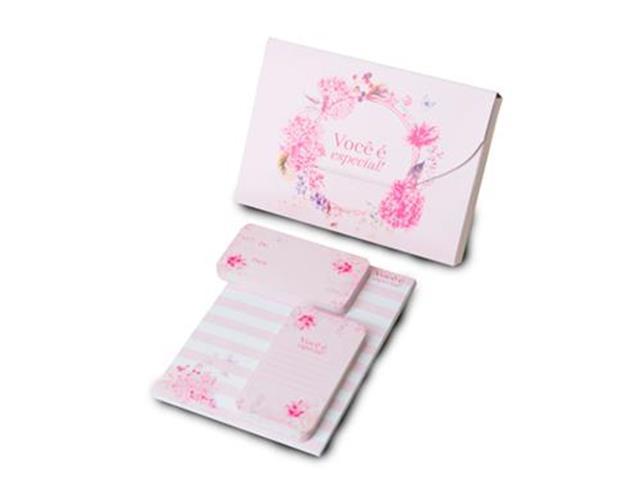 Kit Papelaria Gift Card & Note Você é Especial
