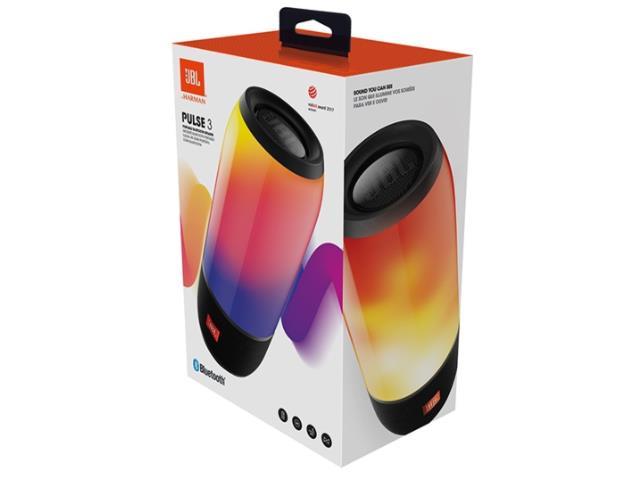 Caixa de Som Bluetooth JBL Pulse 3 Preta - 3