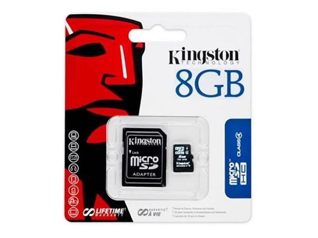 Cartão de Memória com adaptador Kingston Micro SD 8 GB - 1