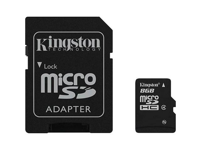 Cartão de Memória com adaptador Kingston Micro SD 8 GB