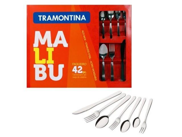 Conjunto de Talheres Tramontina Malibu Inox 42 Peças - 1