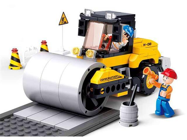 Blocos de Montar  Construção Rolo Compressor Multikids 171 Peças