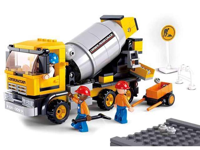 Blocos de Montar  Construção Caminhão Betoneira Multikids 296 Peças