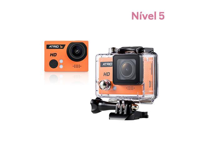 Câmera Atrio Fullsport HD com acessórios e cartão SD 32GB