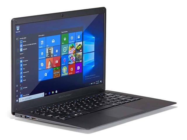 "Notebook Multilaser Legacy Intel Dual Core W10 Pro 4gb Full Hd 14.1"" P - 1"