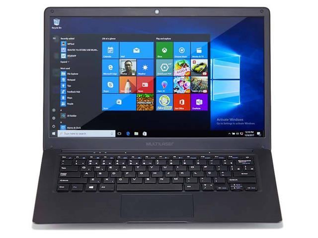 "Notebook Multilaser Legacy Intel Dual Core W10 Pro 4gb Full Hd 14.1"" P"