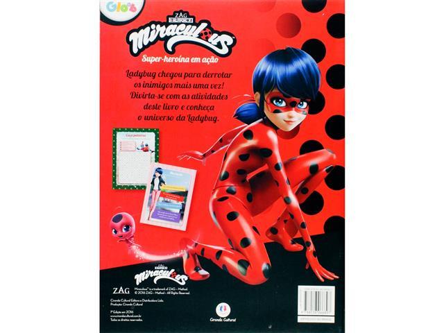 Livro Infantil de Atividades Ladybug Super Heroína em Ação - 1