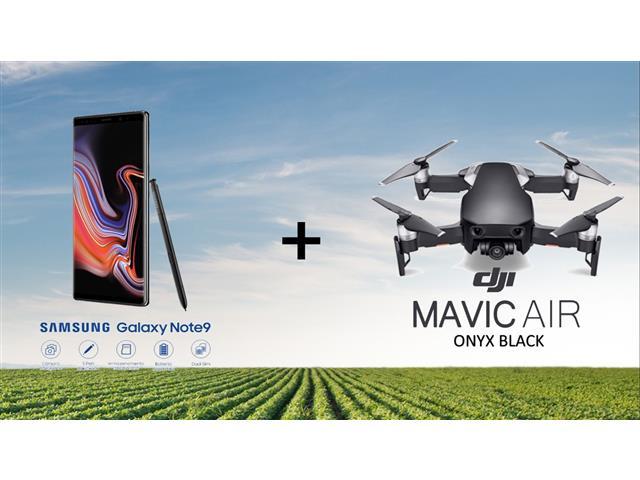 Combo Drone DJI Mavic Air Fly + Samsung Galaxy Note9 128GB Azul