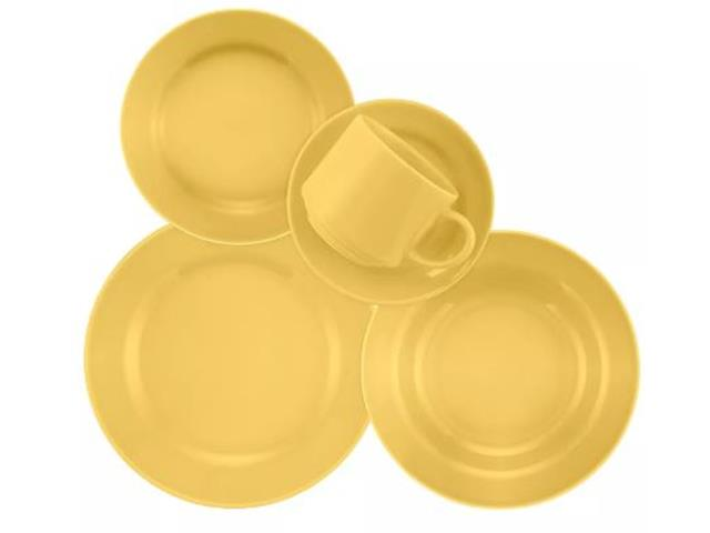 Aparelho de Jantar Redondo Donna Biona Amarelo 20 Peças