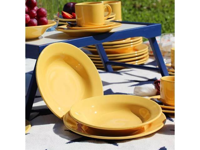 Aparelho de Jantar Redondo Donna Biona Amarelo 20 Peças - 5