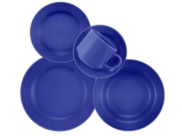 Aparelho de Jantar Redondo Donna Biona Azul 20 Peças