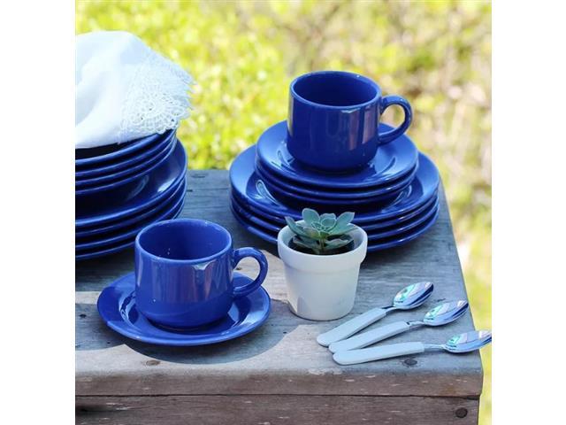 Aparelho de Jantar Redondo Donna Biona Azul 20 Peças - 5