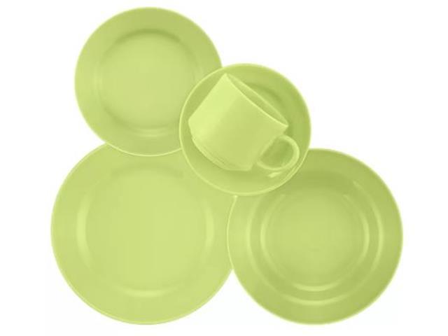 Aparelho de Jantar Redondo Donna Biona Verde 20 Peças