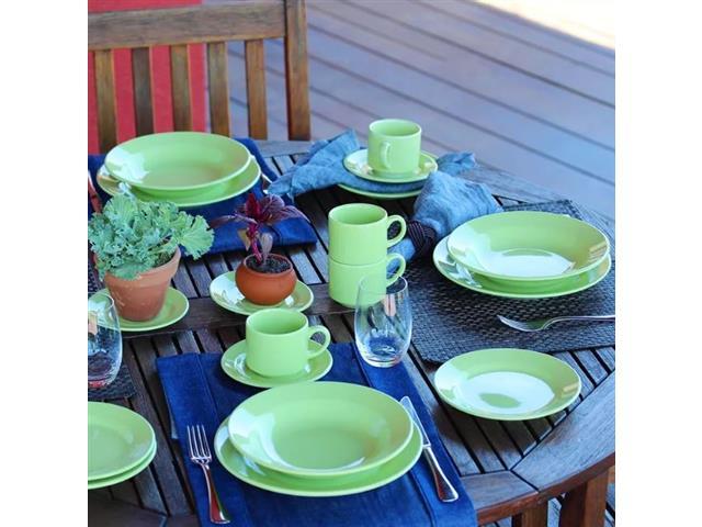 Aparelho de Jantar Redondo Donna Biona Verde 20 Peças - 5