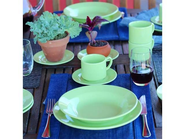 Aparelho de Jantar Redondo Donna Biona Verde 20 Peças - 6